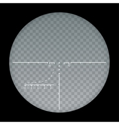 Target sight sniper symbol isolated on a vector