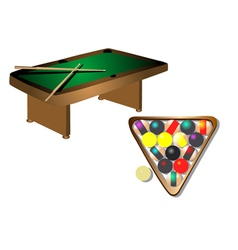 Billiards table vector