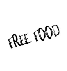 Free food rubber stamp vector