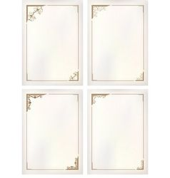 Vintage border frame set vector