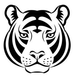 Tiger face symbol vector image