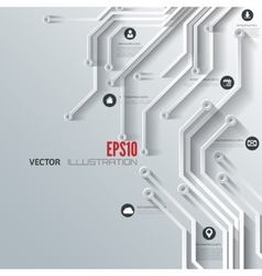 Abstract integrated circuit business background vector