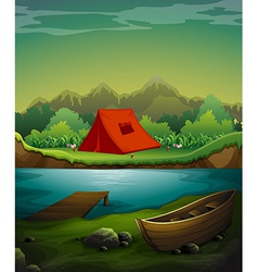 Camping site vector image
