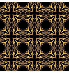 decorative golden seamless vector image