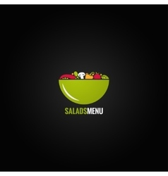 Vegetables design salad background vector