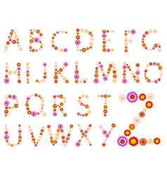 daisy alphabet vector image