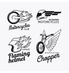 Motorcycle race logo set vector
