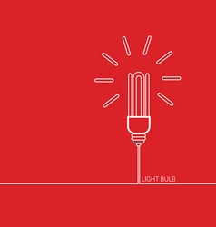 Light bulb red vector