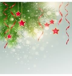 Xmas background with christmas decoration vector