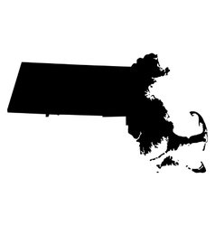 map of the US state of Massachusetts vector image