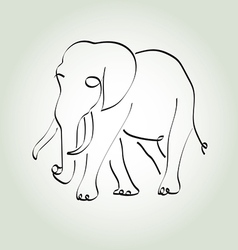 Elephant in minimal line style vector