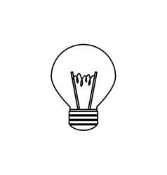 Light bulb  over white vector