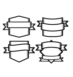 Emblem templates sketch style vector