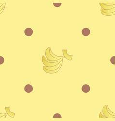 Banana choc dots seamless pattern vector
