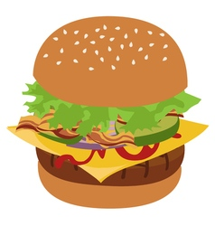 Burger isolated vector