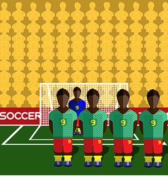 Cameroon soccer club penalty on stadium vector