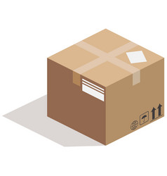 Carton box close up view vector