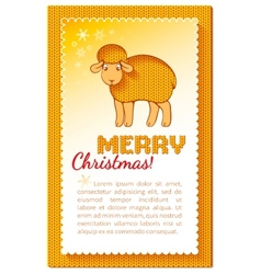 Christmas layered yellow card vector image