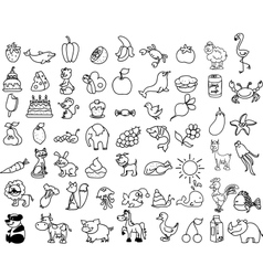Cute Icon Set vector image vector image