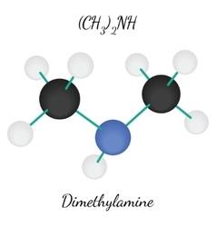 Dimethylamine c2h7n molecule vector