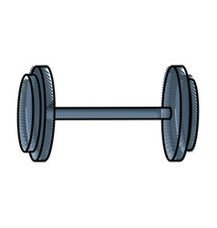 Drawing dumbbell gym equipment sport image vector