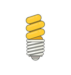 Energy saving light bulb icon flat style vector