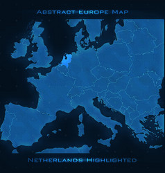 Europe abstract map netherlands vector
