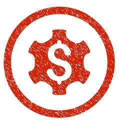 Financial settings rounded grainy icon vector