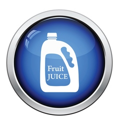 Fruit juice canister icon vector image vector image