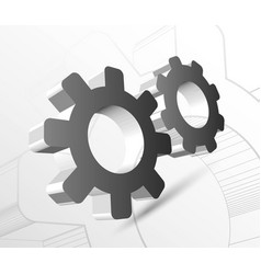 gear with drawing vector image vector image