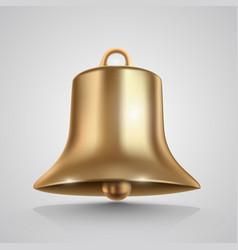 Golden bell isolated on white vector