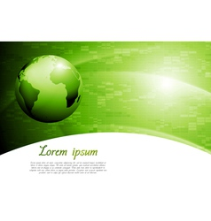 Green colourful tech background vector image vector image