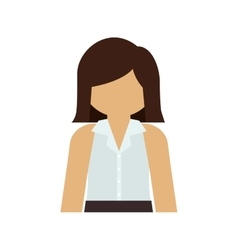 half body woman with short hair vector image