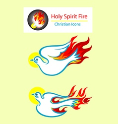 Holy spirit icons vector