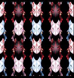 Japanese deamon fox pattern vector