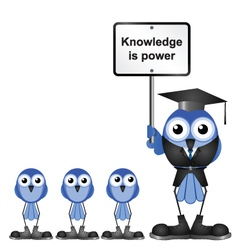 Knowledge message vector image vector image