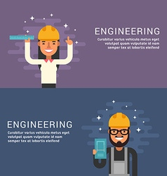 People Profession Concept Engineering Male and vector image