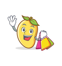 Shopping mango character cartoon mascot vector