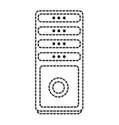 tower computer isolated icon vector image