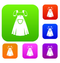 traditional bavarian dress set collection vector image vector image