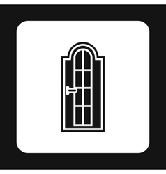 Wooden door icon simple style vector