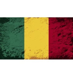 Malian flag grunge background vector