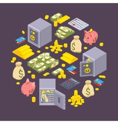 Objects related to finance vector image