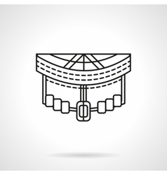 Longboard front abstract line icon vector