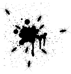 Spots and cockroaches vector