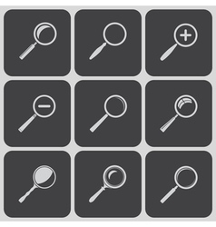 Set of search find lupe icones vector