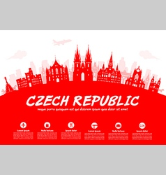 Prague czech republic vector