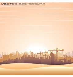 Mideast cityscape panorama vector
