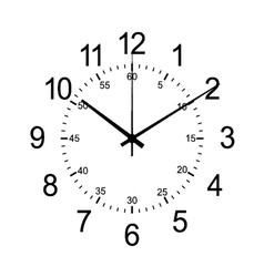 wall clock isolate on white vector image