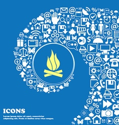 A fire sign symbol nice set of beautiful icons vector